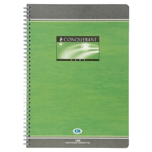 Cahier spirale integrale conquerant A4 70g 180 pages seyes nf