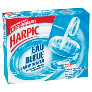 Lot 2 blocs wc harpic colorants eau bleue antitartre