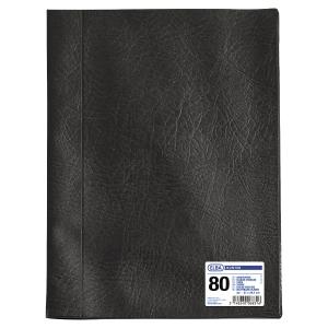 Protège-documents Elba Hunter - PVC grain cuir - 40 pochettes - noir