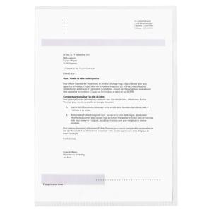 PAQUET 10 CHEMISES COINS ELBA PVC 15/100EME SOUPLE INCOLORE