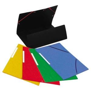Chemise 3 rabats Lyreco - carte lustrée - coloris assortis - par 25