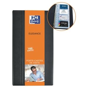 CLASSEUR PORTE CARTES DE VISITE ELBA PVC NOIR