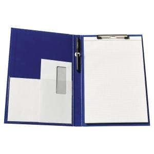 Porte-bloc a pince pour bloc A4+ 23 x 34 cm bleu