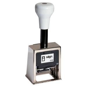 Tampon dateur à molettes Sign 3155 -  reçu le  - encrage automatique