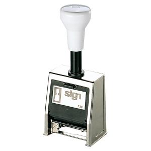 Tampon numeroteur sign 6 chiffres 4.5 mm auto-encrage 3281