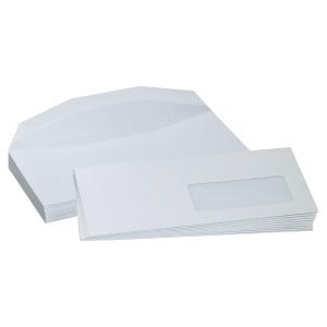 Boite 1000 enveloppes blanches mise sous pli c6/c5 114x229 f45x100 80g gommées