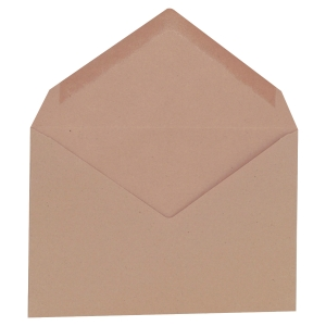Boite 500 enveloppes administratives b6 72g patte triangulaire gommee brun
