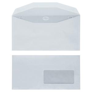 Boite 1000 enveloppes blanches de mise sous pli da 115x225 f45x100 80g gommées