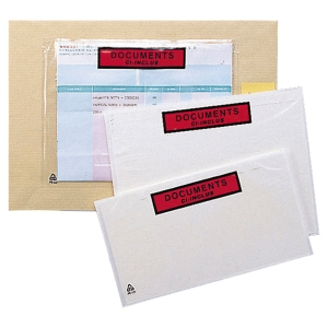 BOITE 1000 POCHETTES ADHESIVES   DOCUMENTS CI-INCLUS   160X110MM
