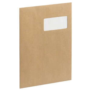 Boite 250 enveloppes a fenetre c4 kraft 90g nf bande siliconee blond