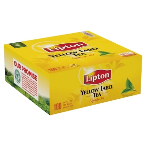 BOITE DE 100 SACHETS THE LIPTON YELLOW
