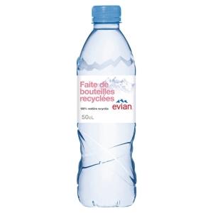 Plateau de 24 bouteilles d eau evian 50 cl