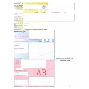 Boite 1000 imprimes envois   en  recommandes   la poste avec ar sans code barres