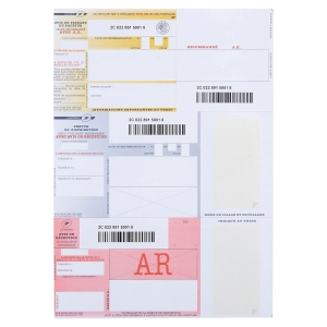 BX150 LAPOSTE REGISTERED MAIL FORMS