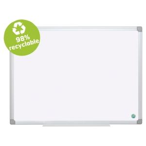 Tableau blanc émaillé magnétique Earth-It Bi-Office 90 x 60 cm cadre aluminium
