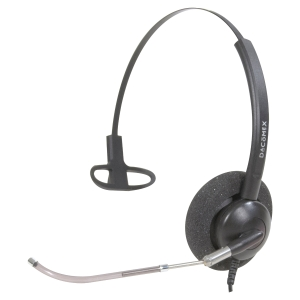 CASQUE FILAIRE MONAURAL DACOMEX A TUBE VOCAL COULISSANT 291014