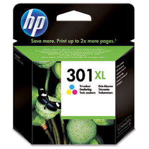 CARTOUCHE JET DENCRE ORIGINALE HP CYAN/MAGEN/JAUN HAUTE CAPACITE HP301XL CH564EE