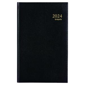 Agenda carre 1 jour par page travers 13 x 21 cm noir
