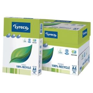 Papier recyclé blanc A3 Lyreco - 80 g - ramette 500 feuilles