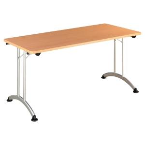 TABLE DE BUREAU PLIANTE BURONOMIC FINITION HETRE 70X140CM