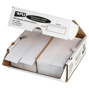 Boite 1000 étiquettes simples pour machine a affranchir 140x40 norme la poste