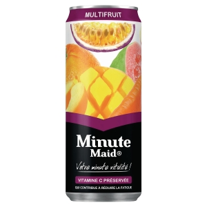 PLATEAU DE 24 CANNETTES MINUTE MAID AROMATISEES TROPICAL 33CL