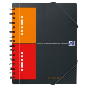 MEETINGBOOK OXFORD INTERNATIONAL QUADRILLE 5X5 FORMAT A5+