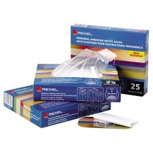 Carton de 50 sacs plastique ws2h pour destructeur Rexel rlws35