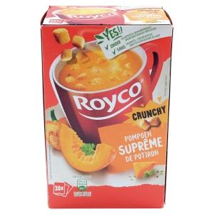 Boite de 20 sachets de soupes royco supreme de potiron et croutons