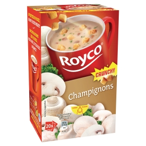Boite de 20 sachets de soupes royco champignons et croutons