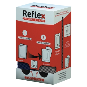 Distributeur Reflex de 50 lingettes nettoyantes et 100 pansements adhésifs