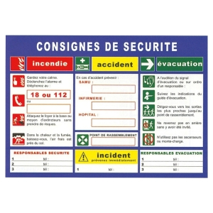 CONSIGNE GENERALE DE SECURITE HDL5 PLASTIFIE RENFORCE A3