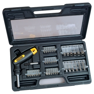 COFFRET TOURNEVIS ARTICULES STANLEY BOSTITCH 40 PIECES