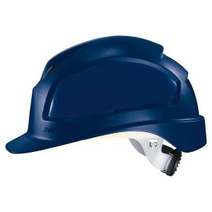 Casque de protection en polyéthylène Uvex Pheos B-WR bleu