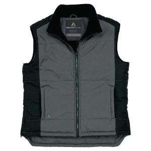 Gilet Deltaplus Fidji polyester pongee enduit PVC gris/noir taille L