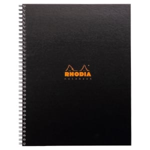 CAHIER RHODIACTIVE NOTEBOOK REMBORDE SEMI-RIGIDE A4+ 160P PERFOREES 5X5 191301