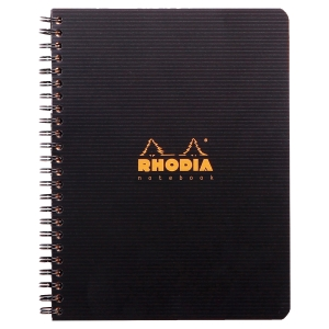 CAHIER RHODIACTIVE NOTEBOOK POLYPROPYLENE A5+ 160P PERFOREES 5X5 119910