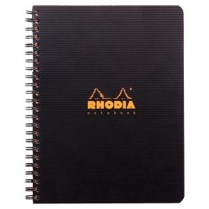 Cahier rhodiactive notebook polypropylene A5+ 160p perforées 5x5 119910