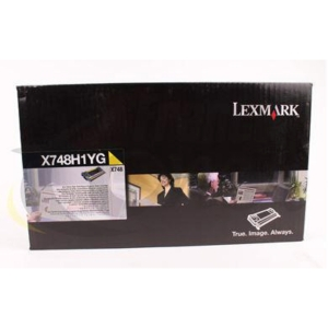 Cartouche de toner Lexmark X748H1YG - jaune