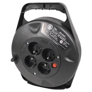 Enrouleur thermofusible avec déclencheur thermique - 4 prises - câble 10 m