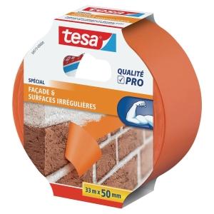 Ruban de masquage Tesa adhésif pvc polyvalent bâtiment 50 cm x 33 m orange