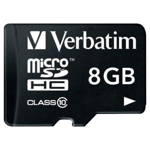Carte mémoire Verbatim micro SDHC classe 10 avec adaptateur 8Go