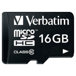 Carte mémoire Verbatim micro SDHC classe 10 avec adaptateur 16Go