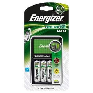MAXI CHARGEUR ENERGIZER + 4 PILES AA PRECHARGEES 2000 mAh
