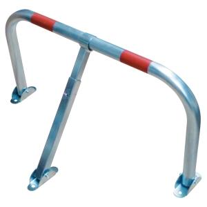 Arceau de parking avec clé 755 x 405 mm acier /2 bandes réfléchissantes rouge