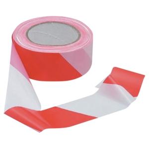 Ruban de signalisation Viso simple épaisseur 100 m x 50 mm rouge/blanc
