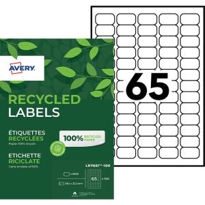 Etiquette adresse recyclée Avery - LR7651 - 38,1 x 21,2 mm - blanche - par 6500