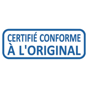Tampon encrage auto formule certifie conforme a l original