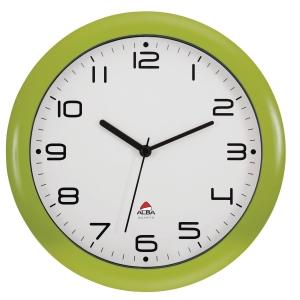 HORLOGE MURALE ALBA EASY TIME MECANISME A QUARTZ 30 CM EN ABS ANTICHOC VERT