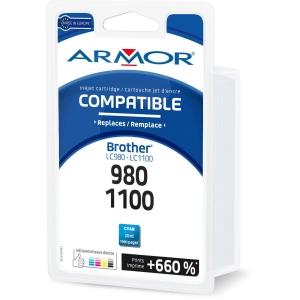 Cartouche d encre Armor compatible équivalent Brother LC980C - cyan